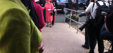 The Queen arrives at RAF Cosford