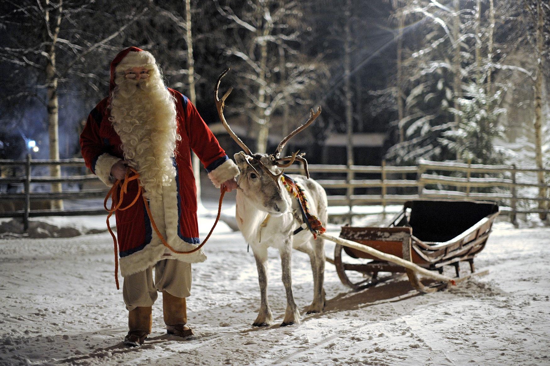 Santa Claus And His Reindeer Real Santa claus prepars his