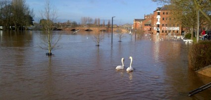 flooding Worcester Dec 2012